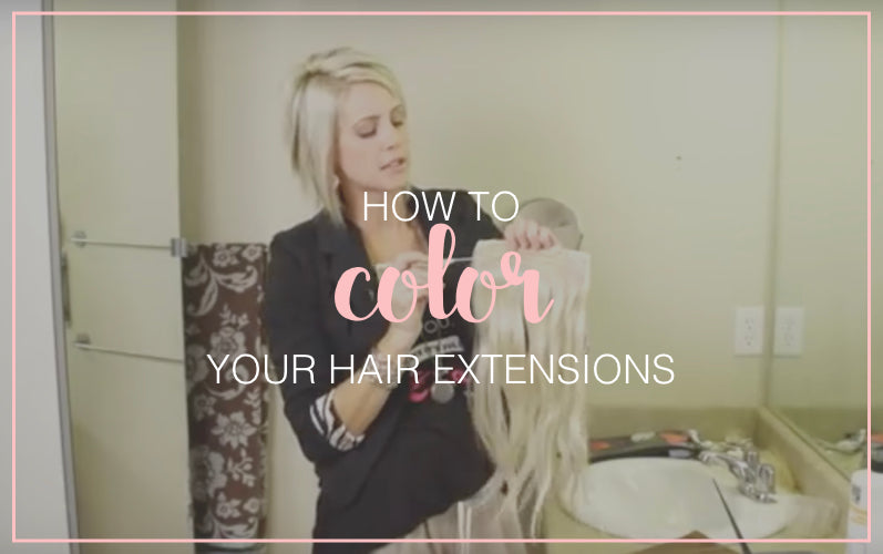 How To Dye Hair Extensions Tressmerize