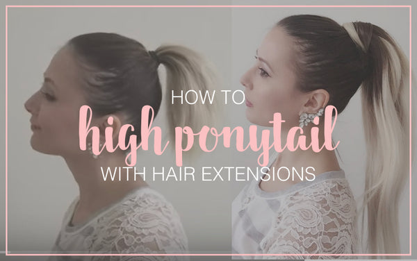 Perfect Ponytail  in Short Hair with Extensions