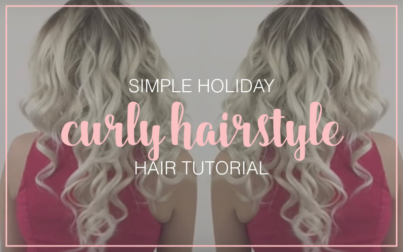 Simple Holiday Curls Hair Tutorial