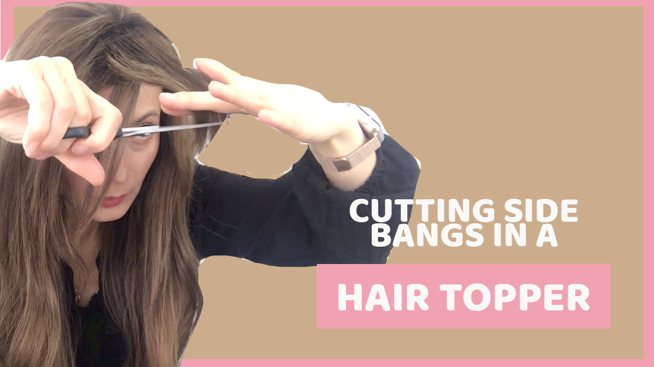 How to cut side- swept bangs on a hair topper