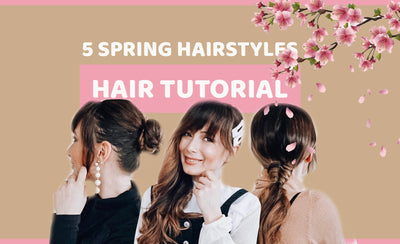 Easy Spring Hairstyles for Long Hair with Hair Topper + Extensions
