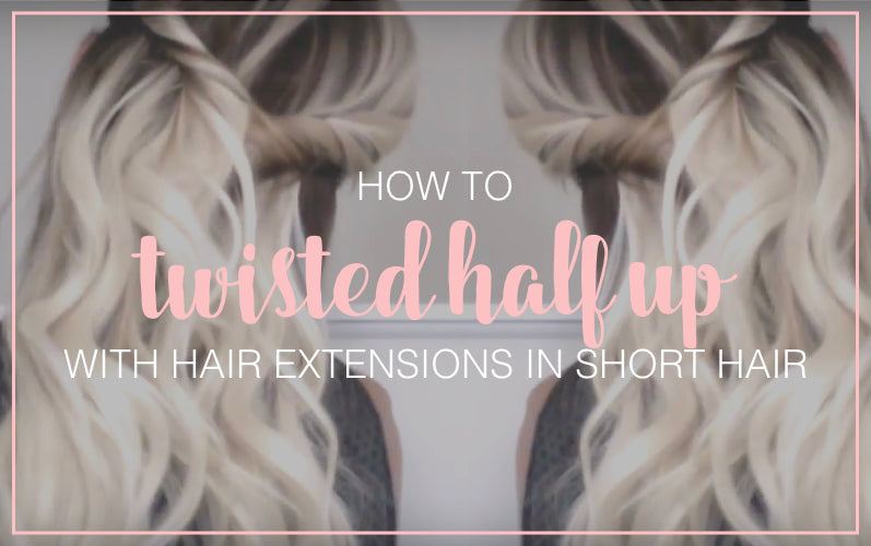 Twisted Half Updo Hair Tutorial