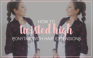 How to Twisted High Ponytail Hair Tutorial
