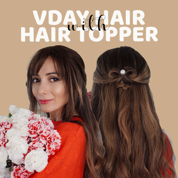 Easy Valentine's Day Hairstyle with a Hair Topper