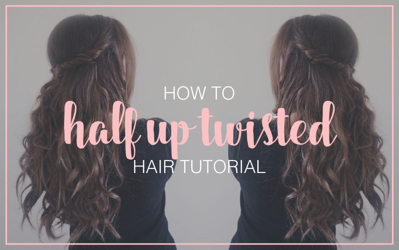 How To Twisted Half Up Half Down Hairstyle Tressmerize