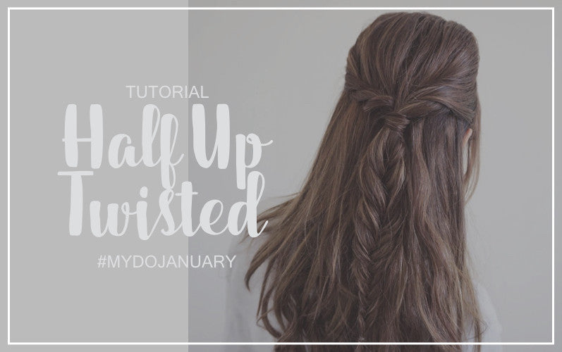Half Up Twisted Fishtail Braid | #MYDOJANUARY