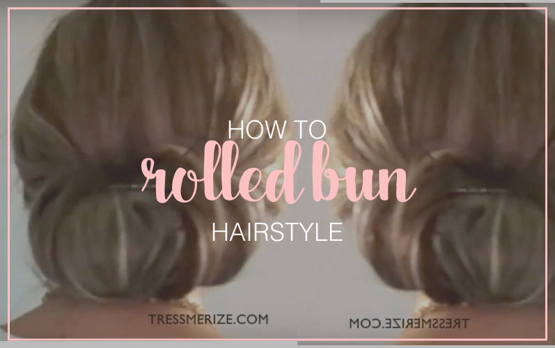 Easy Rolled Bun Hairstyle