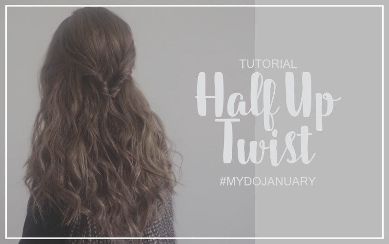 How to Half Up Half Down Twist Hair Tutorial
