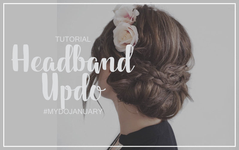 How to Headband Updo Hair Tutorial