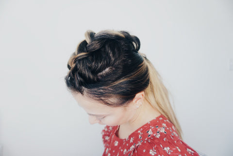 fauxhawk ponytail with hair topper