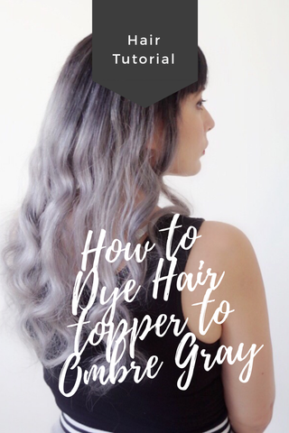 how to dye ombre gray hair