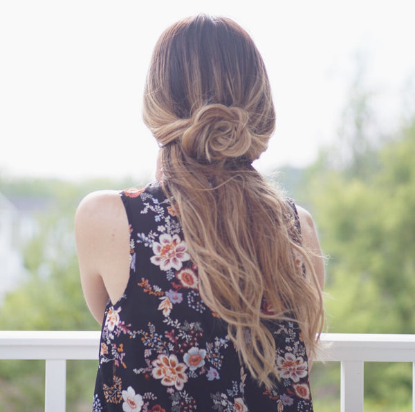 flower braid low ponytal