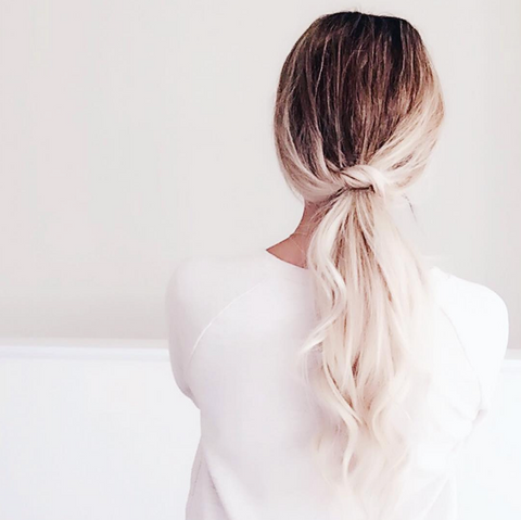 tie the knot ponytail