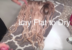 how to dry hair extensions
