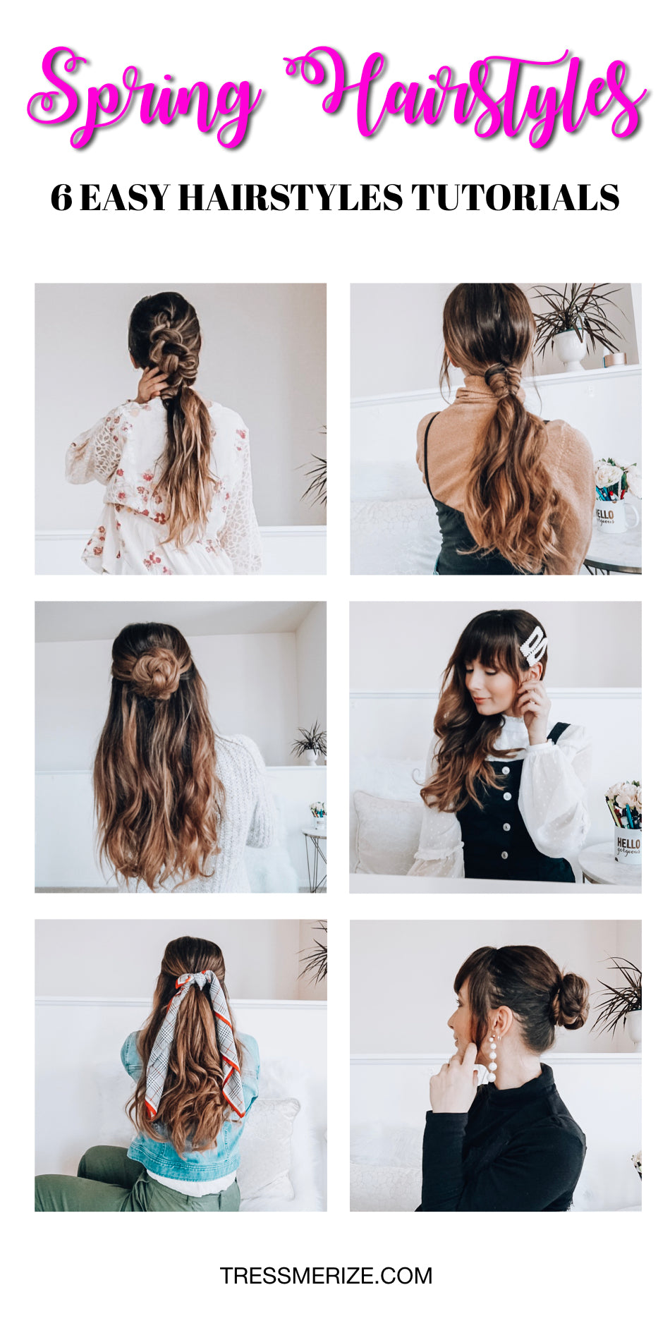 easy spring hairstyles for long hair