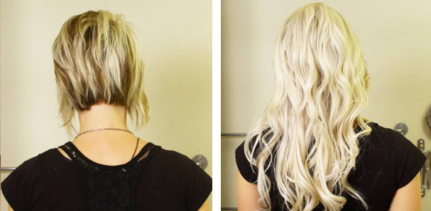 Hair Extensions Before and After - Tressmerize