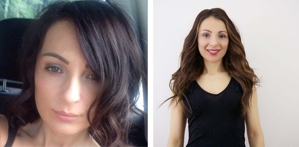 Hair extensions before and after tressmerize amra wearing tressenigma ombre brown clip in hair extensions topper for short hair pmusecretfo Choice Image