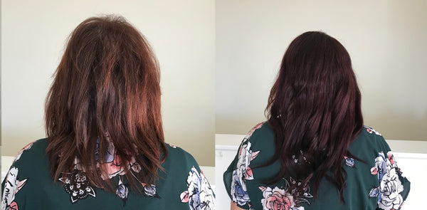 before and after hair toppers