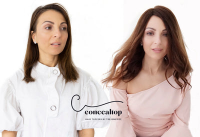 concealtop Human Remy Hair Topper