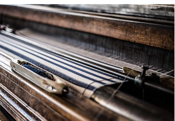 Old traditional hand-looms for making turkish towels