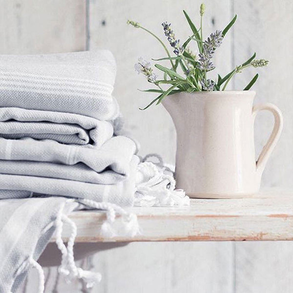 Light Grey Turkish towels for bathroom
