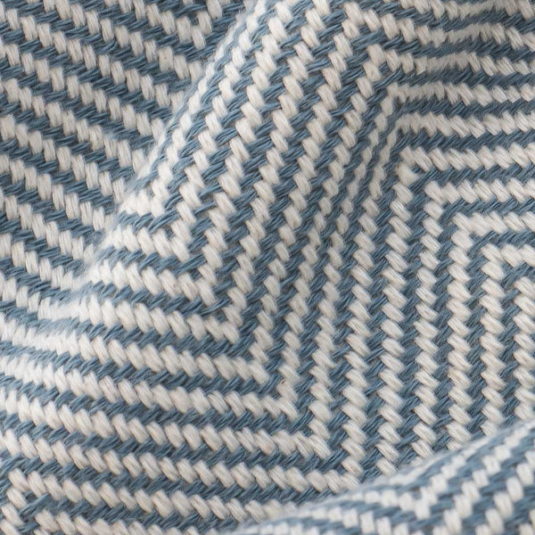 Herringbone Turkish Towel in Denim Blue