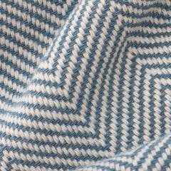 Herringbone Turkish Towel in Denim Blue Detail