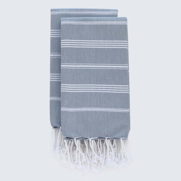 Set Of Classic Hand Towels | Denim