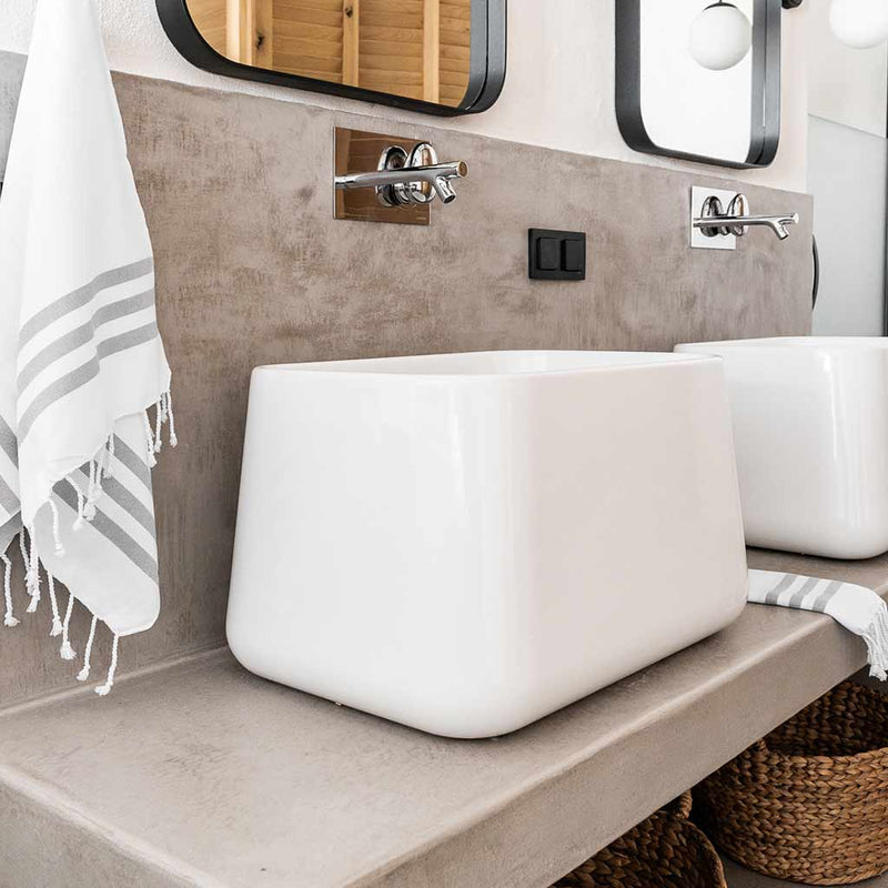 Set of Naxos Hand Towels | Pebble
