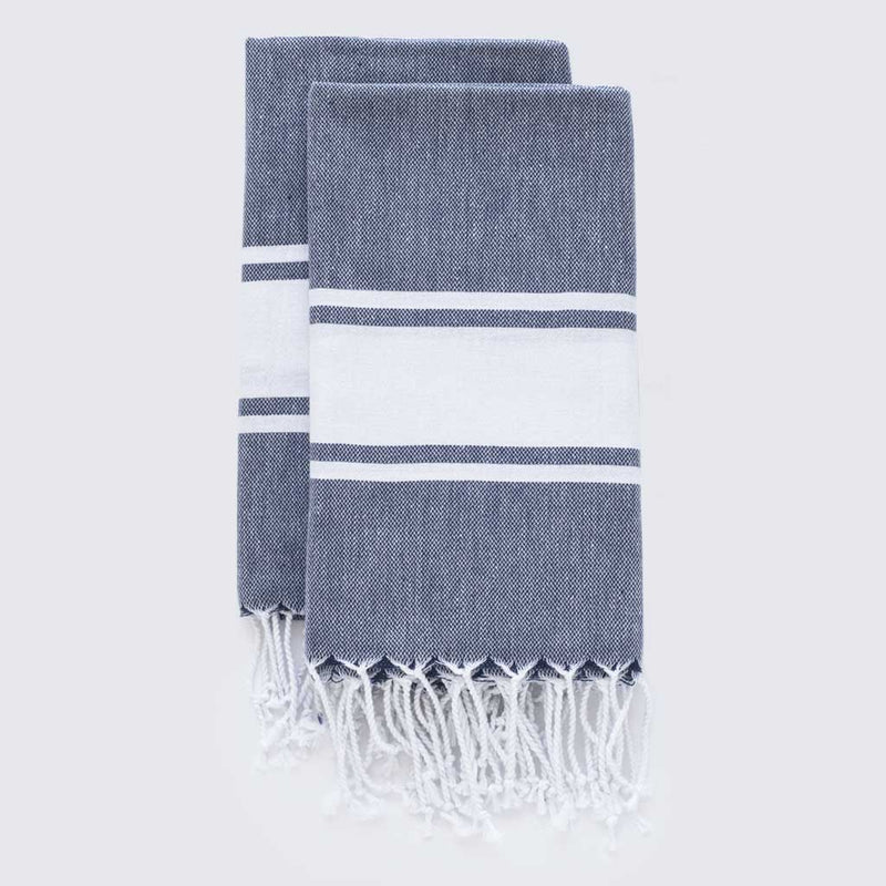 Set Of Hamptons Hand Towels | Midnight