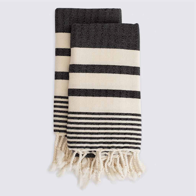 Set of Odessa Hand Towels | Charcoal