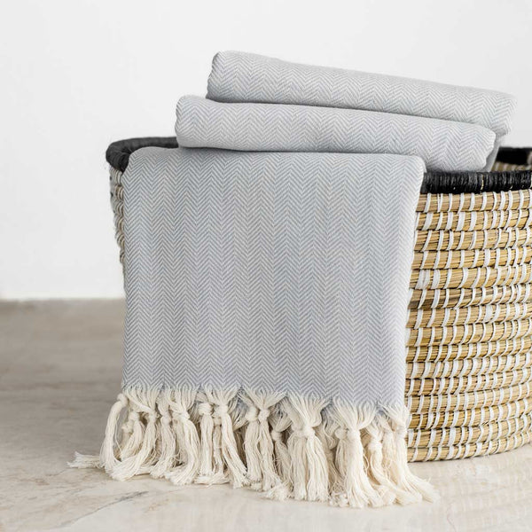Herringbone Throw | Pebble