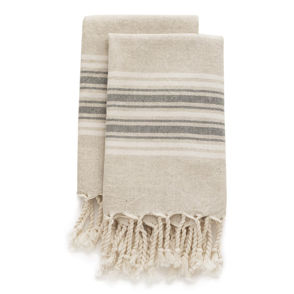 Set Of Maya Linen Hand Towels | Fossil