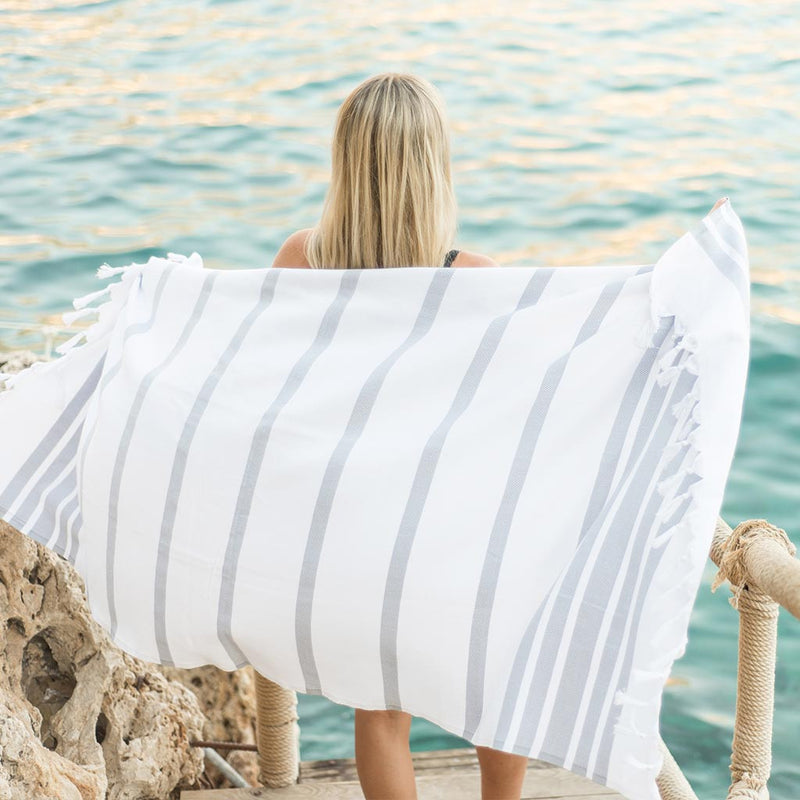 Palms Towel | Pebble