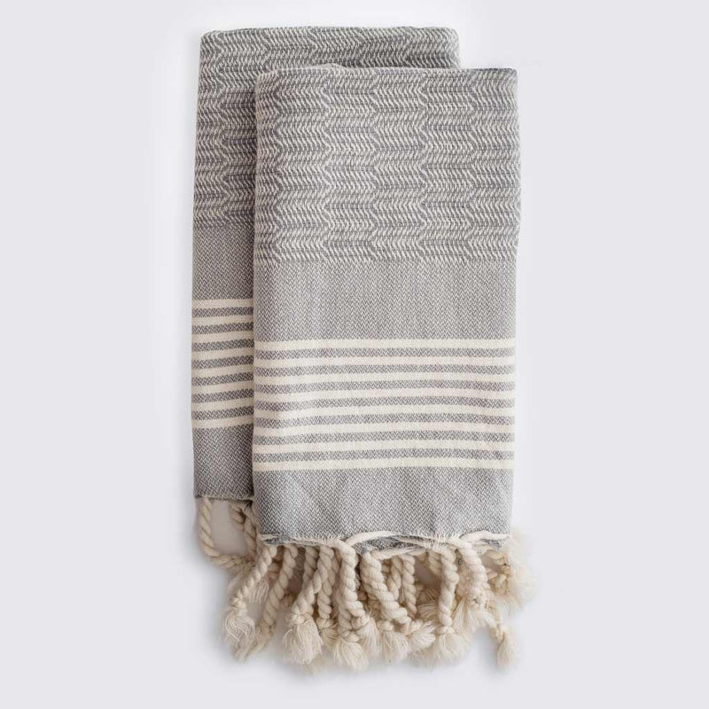 Set of Edie Hand Towels | Pebble