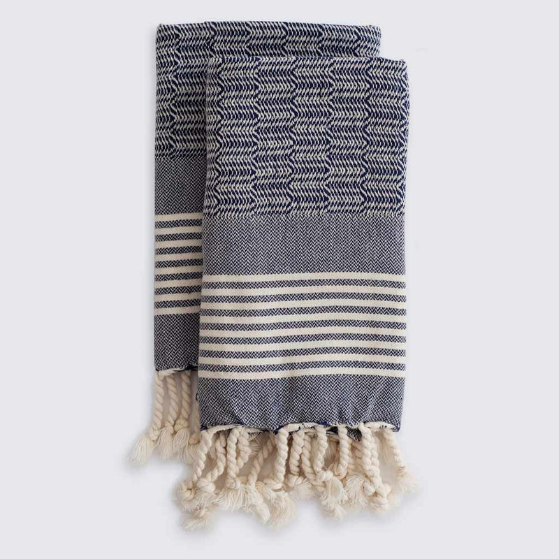Set of Edie Hand Towels | Midnight