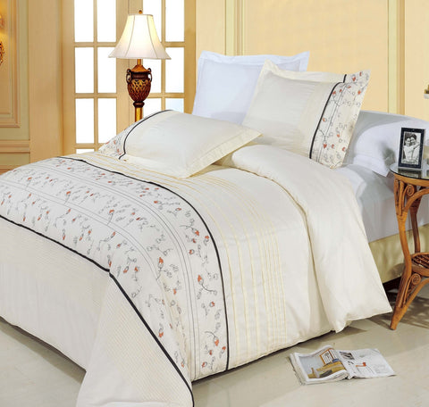 Anna Egyptian Cotton Embroidered Duvet Cover Set (Full/Queen Size) - My Bed Covers