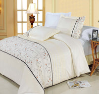 Anna Egyptian Cotton Embroidered Duvet Cover Set (King Size) | My Bed Covers