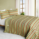 A Long Summer 3PC Cotton Vermicelli-Quilted Printed Quilt Set (Full/Queen Size) - My Bed Covers - 1