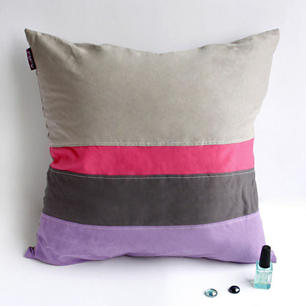 Adonis Knitted Fabric Patch Work Pillow Cushion | My Bed Covers