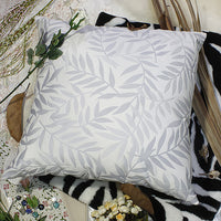 Antique Blue Palm Decorative Pillow Cushion | My Bed Covers