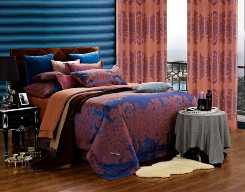 Areon Jacquard Damask Luxury 6PC Duvet Cover Set (Full/Queen Size) - My Bed Covers