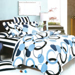 Artistic Blue Luxury 6PC Mini Bed In A Bag Combo 300GSM (Full Size) | My Bed Covers