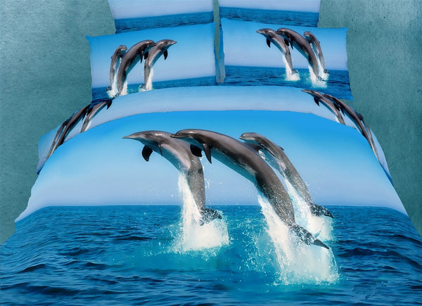 Atlantic Dolphins 6PC Duvet Cover Set (King Size) | My Bed Covers