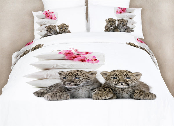 Baby Leopards 6PC Duvet Cover Set (Full/Queen Size) | My Bed Covers