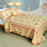 Beautiful Moment Cotton 3PC Vermicelli-Quilted Printed Quilt Set (Full/Queen Size) | My Bed Covers