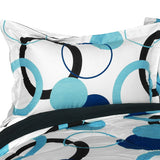 Blue Bubble Quilted Patchwork Down Alternative Comforter Set (King Size) - My Bed Covers - 2