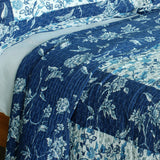 Blue River Cotton 3PC Vermicelli-Quilted Printed Quilt Set (Full/Queen Size) | My Bed Covers