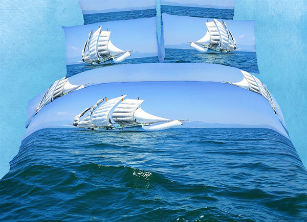 Bon Voyage 6PC Duvet Cover Set (Full/Queen Size) | My Bed Covers