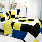 Brave Heart 3PC Vermicelli - Quilted Patchwork Quilt Set (Full/Queen Size) | My Bed Covers